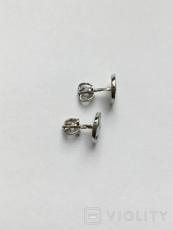 Сережки гвоздикм, фото №4