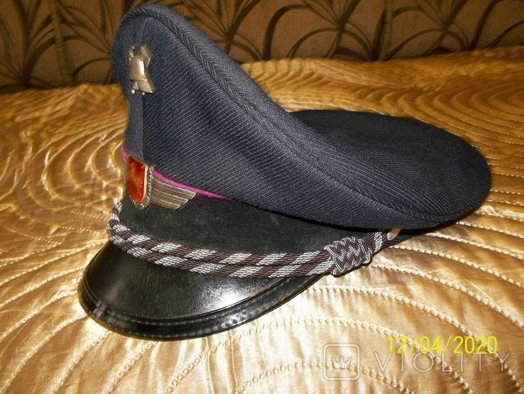 Фуражка  офицерская  пож.  полиции  Нижней  Саксонии.  Германия., фото №2
