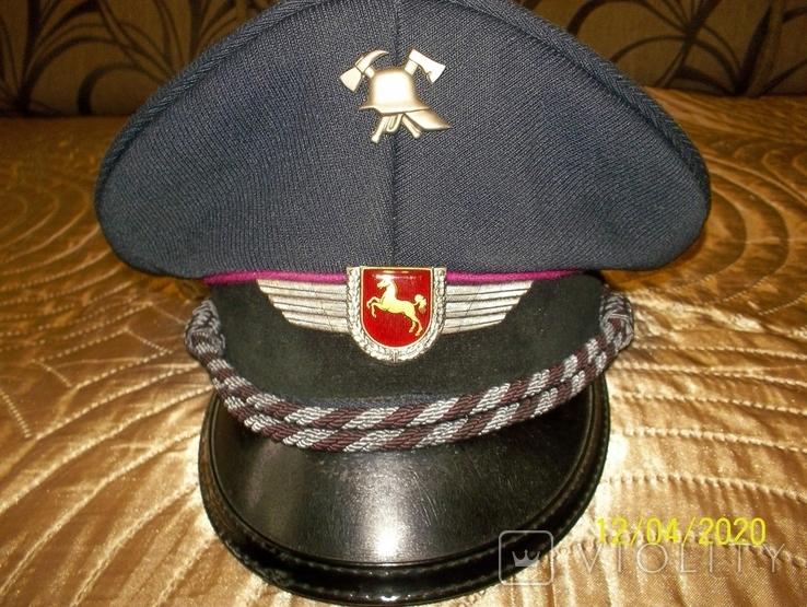 Фуражка  офицерская  пож.  полиции  Нижней  Саксонии.  Германия., фото №3