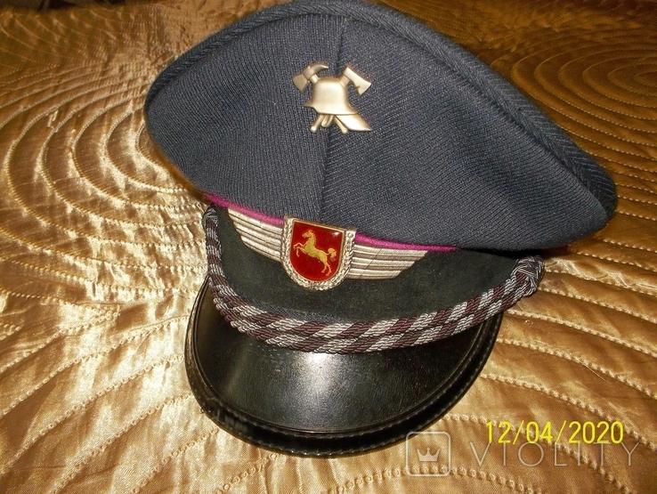 Фуражка  офицерская  пож.  полиции  Нижней  Саксонии.  Германия., фото №6