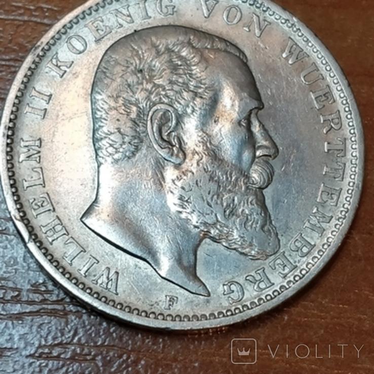 Вюртемберг,3 марки 1910 г., фото №2