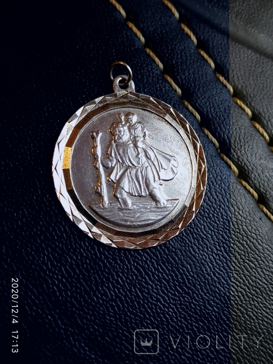 Святой Христофор кулон ладанка, медальйон, фото №4