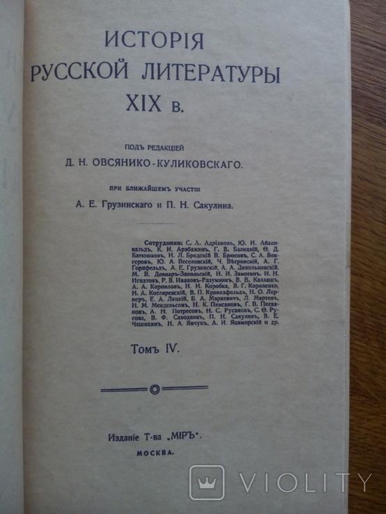 История Русской Литературы 19 века 1910 г., фото №4