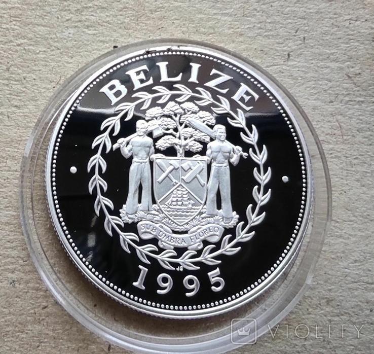 Белиз 10 долларов 1994 г. Серебро. Корабль., фото №3