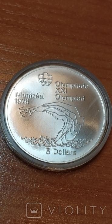 Канада,5 долларов,Олимпиада 1976 г., фото №5