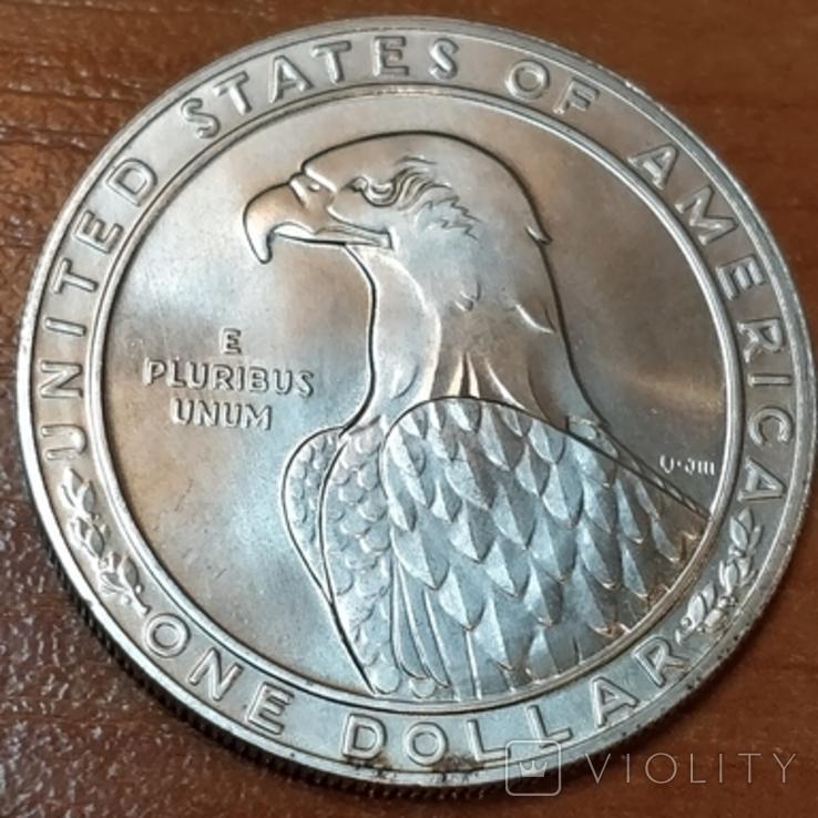 США 1 доллар Олимпиада 1984 г., фото №3