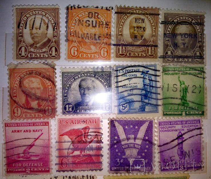 Альбом с  более 50 старых марками США. Президенты., фото №4