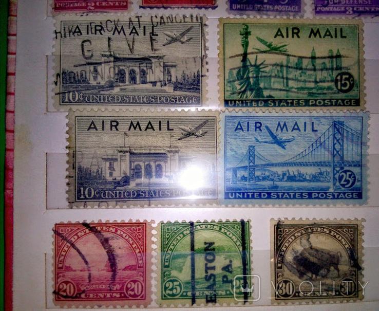 Альбом с  более 50 старых марками США. Президенты., фото №5