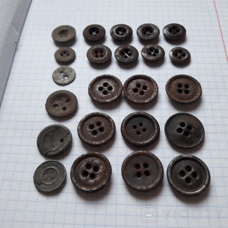 Пуговицы на амуницию разных времён, 22 мм и др., 23 шт, фото №3