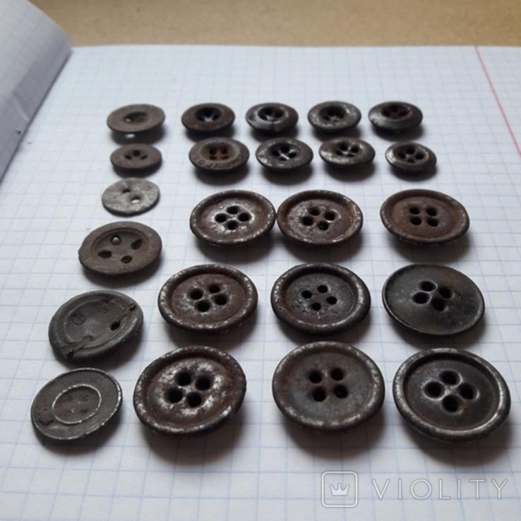 Пуговицы на амуницию разных времён, 22 мм и др., 23 шт, фото №2