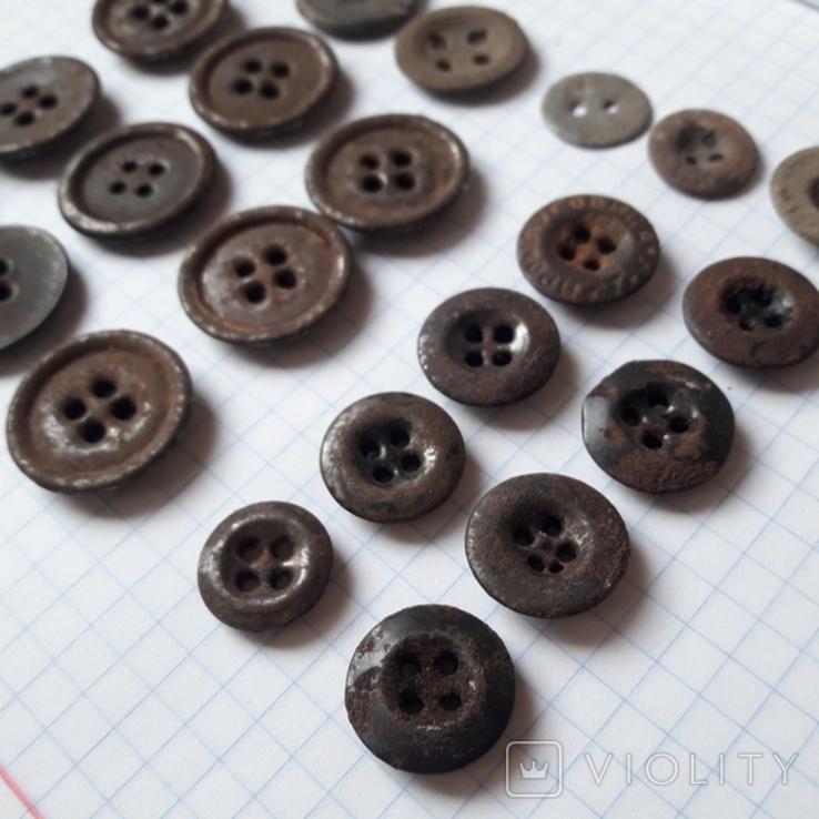 Пуговицы на амуницию разных времён, 22 мм и др., 23 шт, фото №5