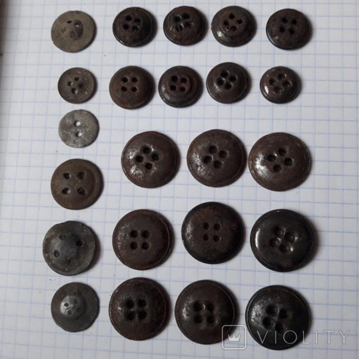 Пуговицы на амуницию разных времён, 22 мм и др., 23 шт, фото №8