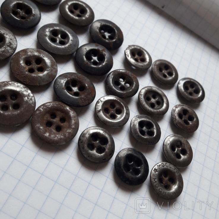 Пуговицы к амуниции разные 33 шт, фото №6