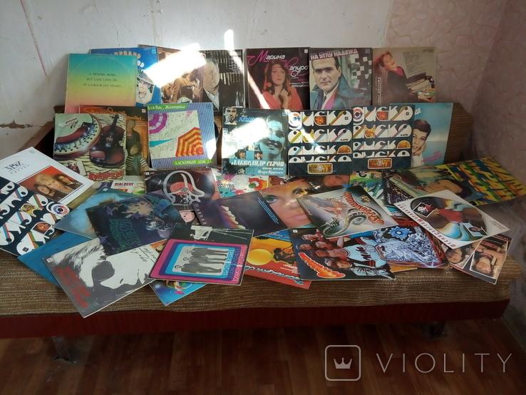 Грампластинка пластинка СССР 62 шт + 4 обложки, фото №2
