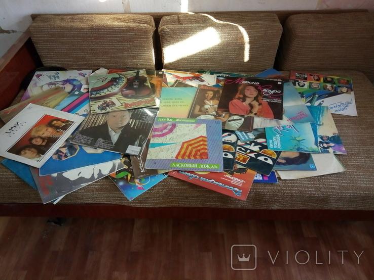 Грампластинка пластинка СССР 62 шт + 4 обложки, фото №3