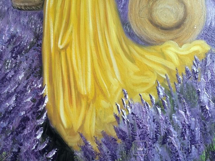 Картина, Лавандове нахнення, 50х50 см. Живопис на полотні, фото №6