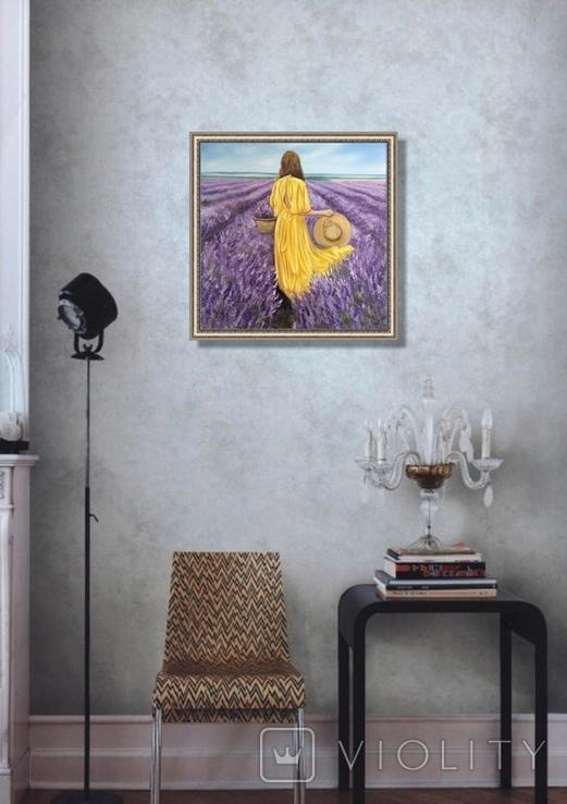 Картина, Лавандове нахнення, 50х50 см. Живопис на полотні, фото №8