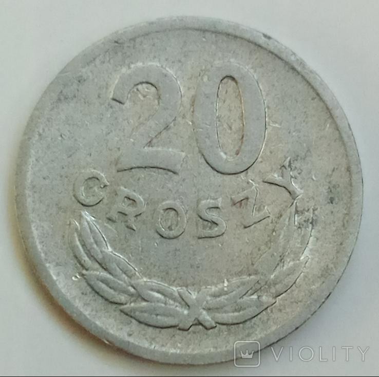 20 грошей 1969 г. Польша, фото №2
