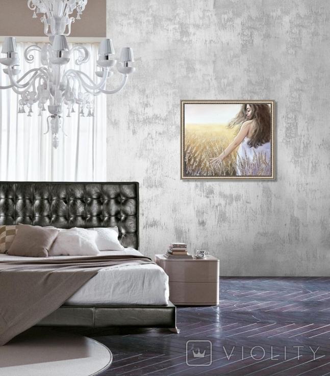 Картина, Стигле колосся, 60х50см. Живопис на полотні, фото №10