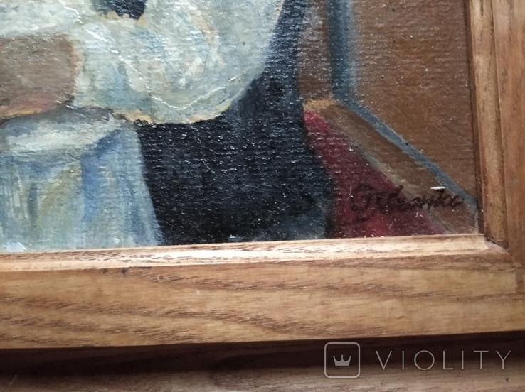 """""""За столом""""к.м.20х30 см. Сергей Ивченко, фото №4"""