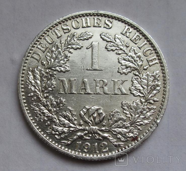 1 марка 1912 г. (А) Германия, серебро, фото №3