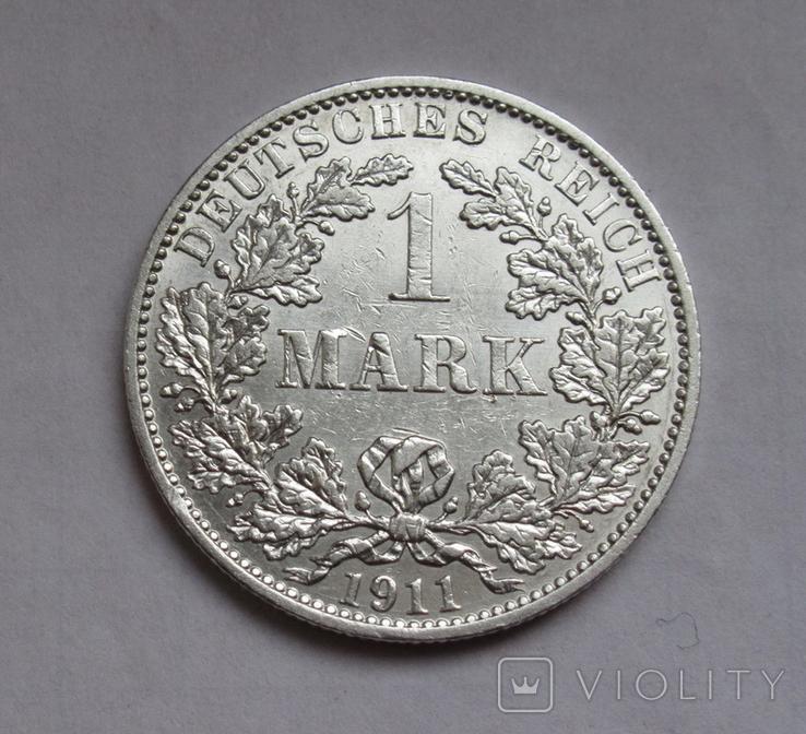 1 марка 1911 г. (А) Германия, серебро, фото №3
