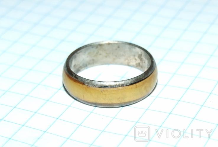 Кольцо с полимерной вставкой по периметру, фото №6
