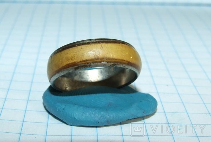 Кольцо с полимерной вставкой по периметру, фото №8