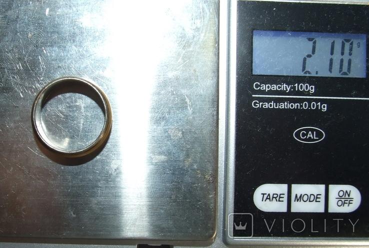 Кольцо с полимерной вставкой по периметру, фото №13