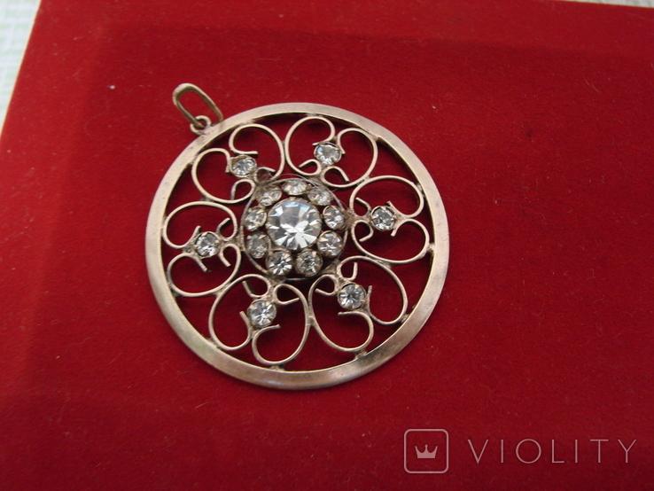 Кулон \ Подвеска серебро 875, фото №2