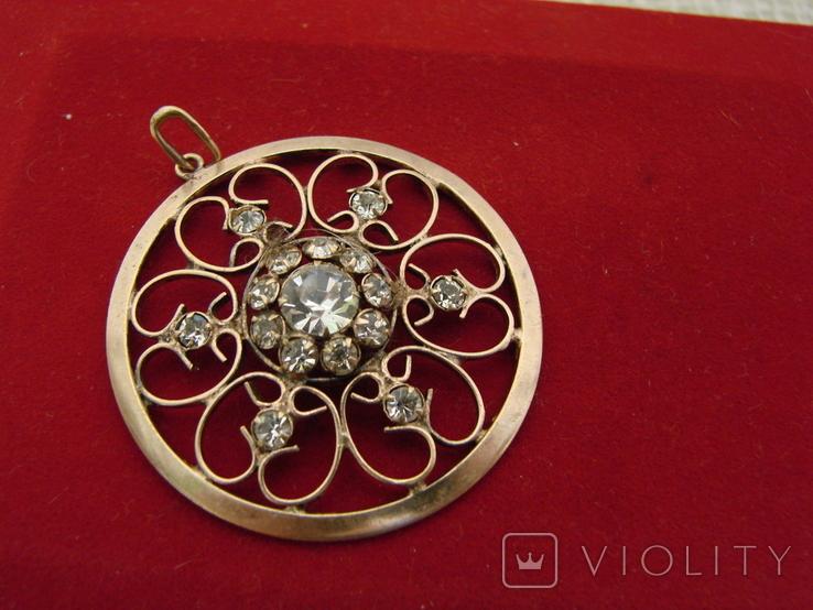 Кулон \ Подвеска серебро 875, фото №3