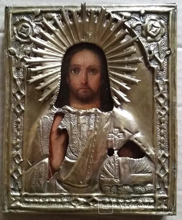 Ікона Ісус, латунь, 13,8х11,5 см, фото №2