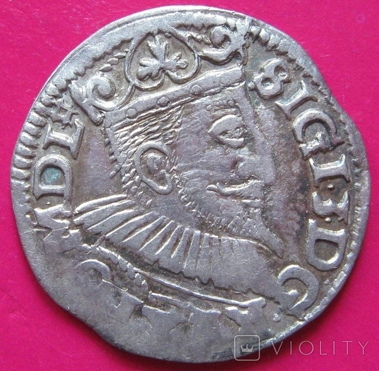 3 гроша 1595 Сигизмунд III, фото №2