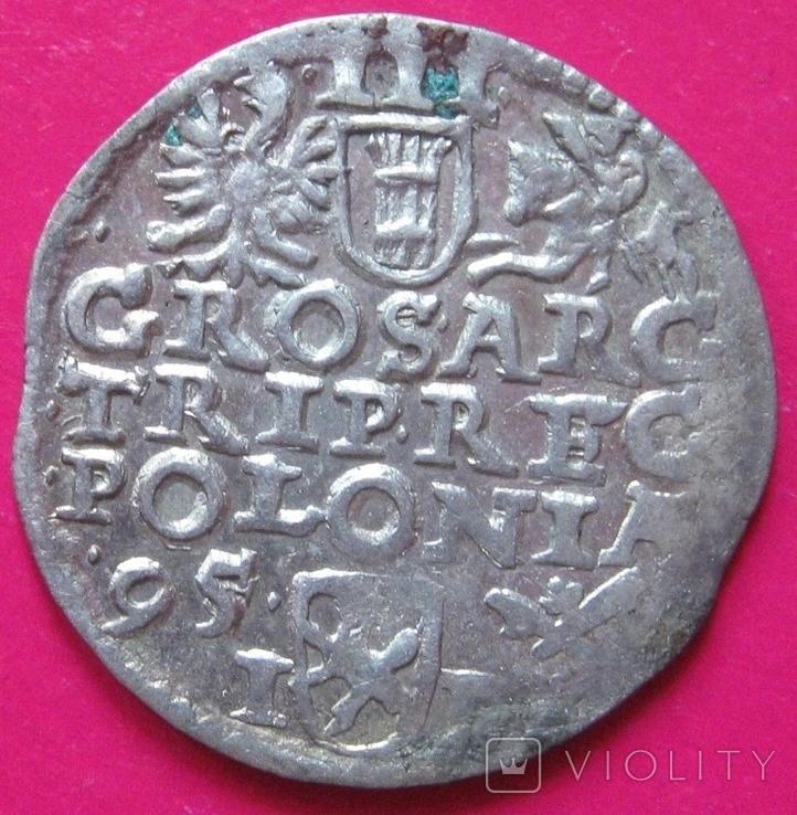 3 гроша 1595 Сигизмунд III, фото №3