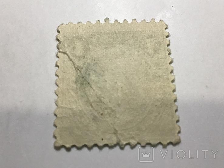 Марка 1 цент сша Франклин, фото №3
