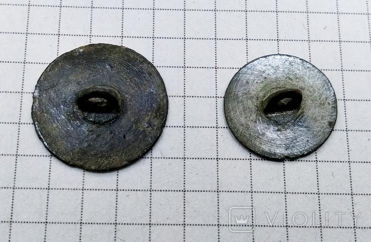 Две пуговицы с солярным орнаментом, фото №7