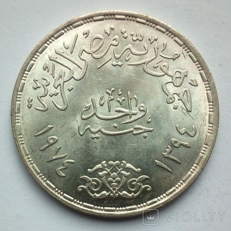 Египет 1 фунт 1974 г. - Война Судного дня, фото №6