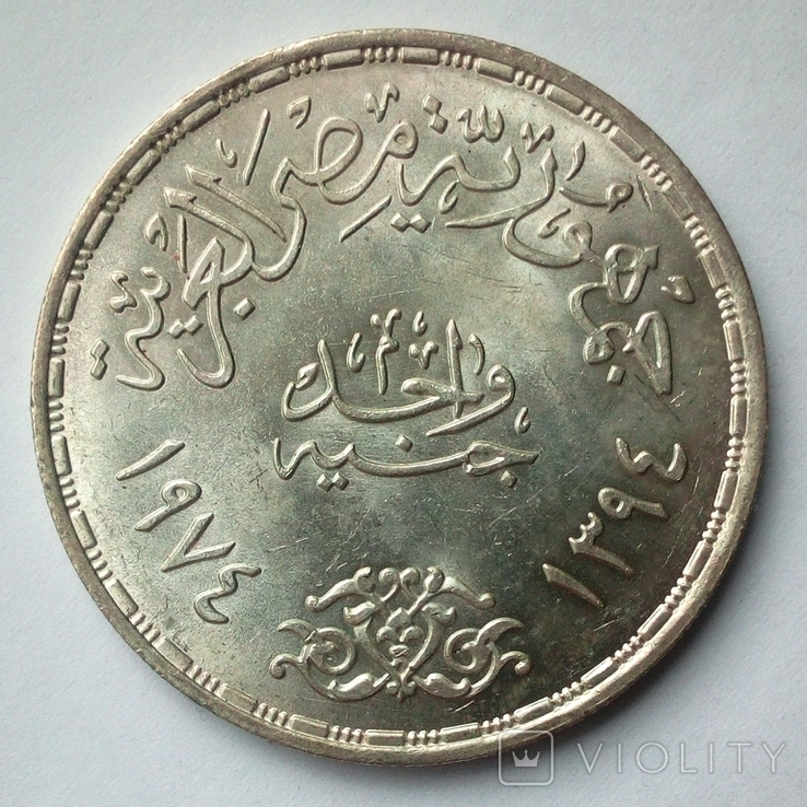 Египет 1 фунт 1974 г. - Война Судного дня, фото №7