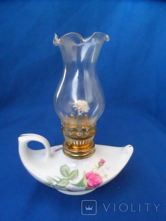 Миниатюрная керосиновая лампа. Европа лот 2, фото №2