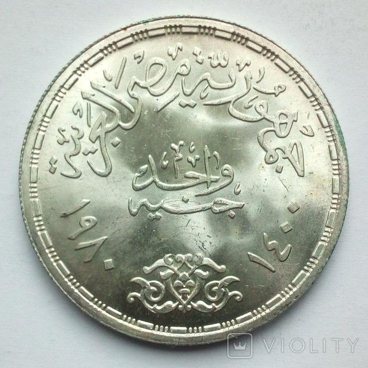 Египет 1 фунт 1980 г. - Мирный договор, фото №6