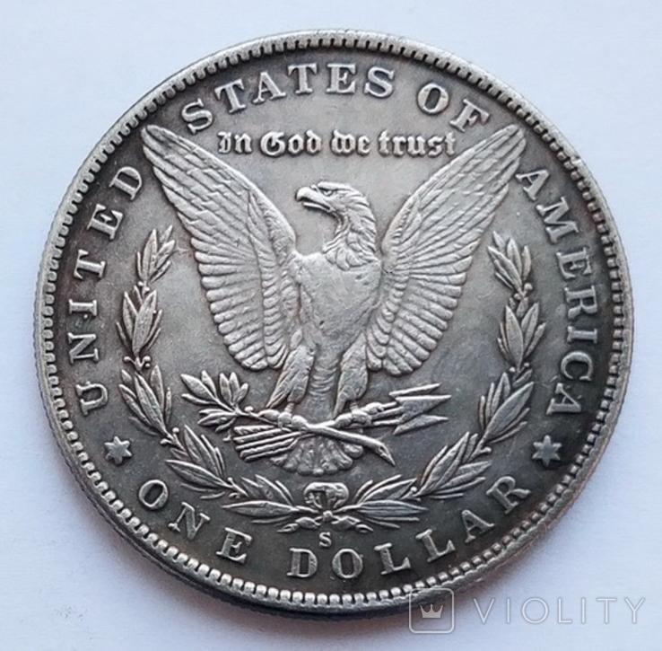 США. Доллар 1893. Бафомет-2 (Копия), фото №3