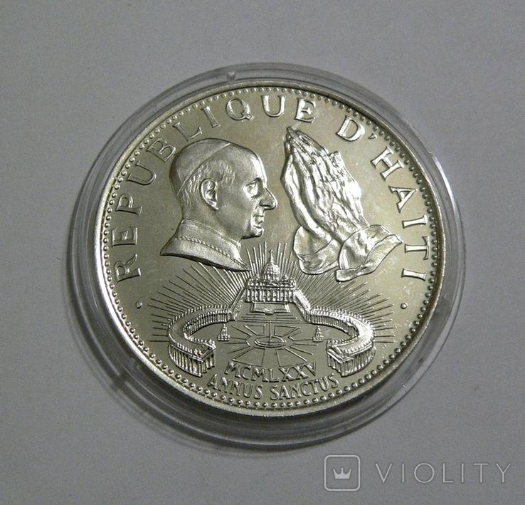 Гаити, 50 гурдов, 1974 - Святой Год - серебро, фото №2