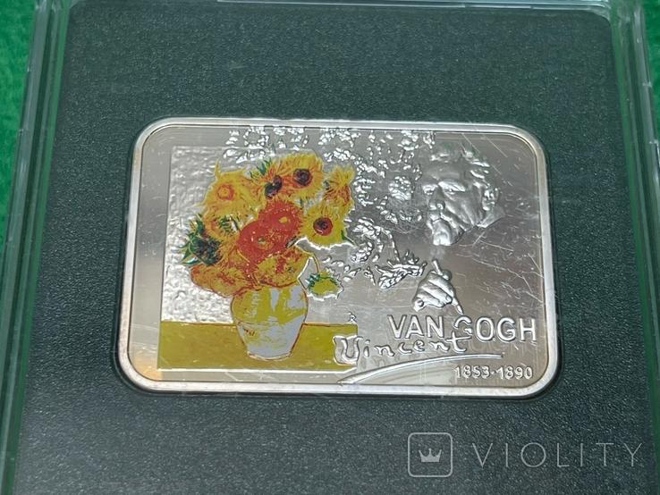 Ниуэ 1 доллар, 2007. Известные художники - Винсент Ван Гог /Подсолнухи, фото №3