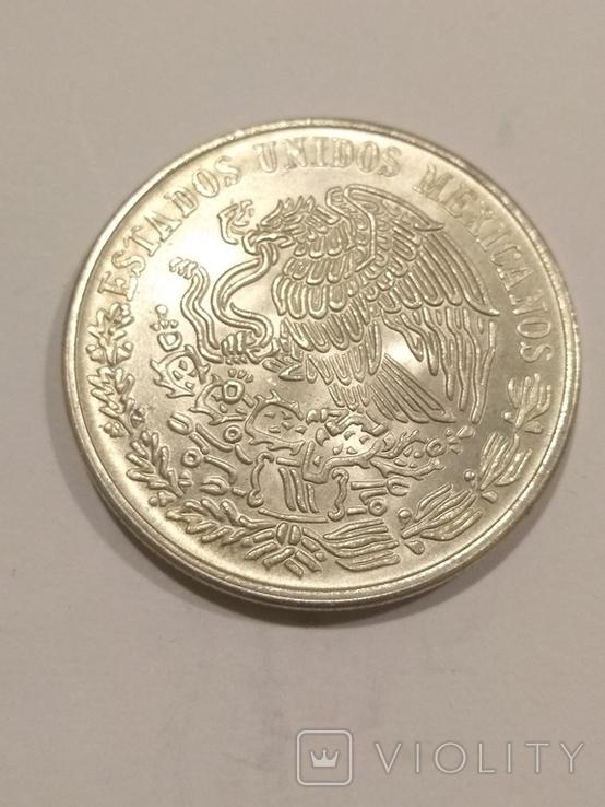 Мексика 100 песо 1977 серебро 27,77 грамм, 720 проба, фото №3
