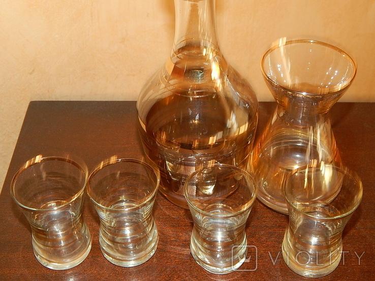 Графин вазочка четыре рюмки комплект, фото №8
