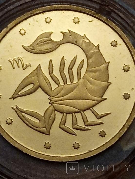 2 грн 2007 Скорпион из золота, фото №11