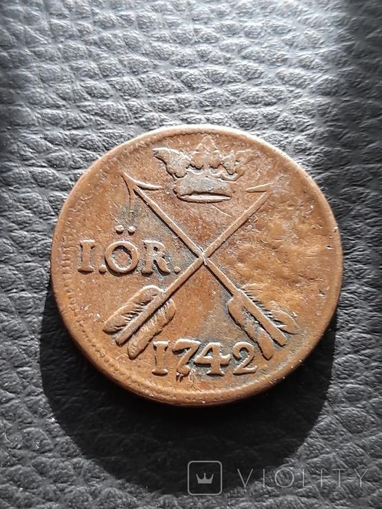 Швеция 1 эре SM, 1742 года, фото №2
