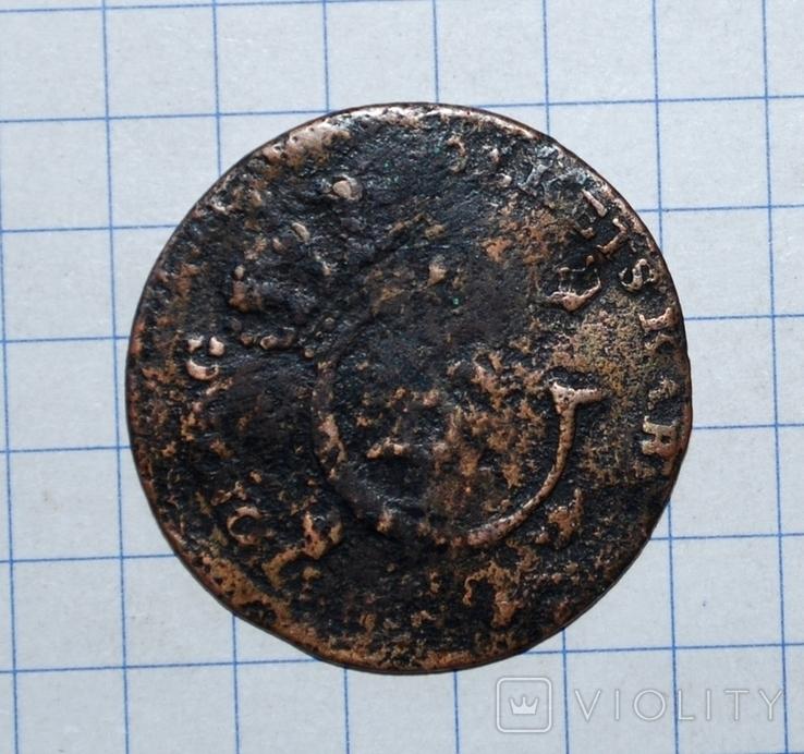 Швеция 1/4 скиллинга 1825 года., фото №6