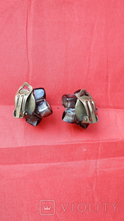 Кліпси зі скляними намистинами, фото №6