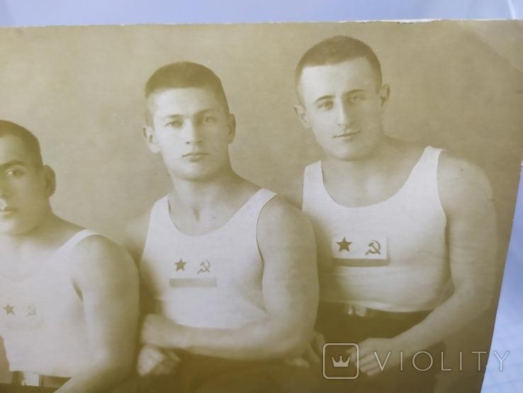 1940 Фото Моряки - борцы. Баку, Каспийская военная флотилия. Борьба, фото №3